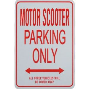 Motor Scooter Parking Sign