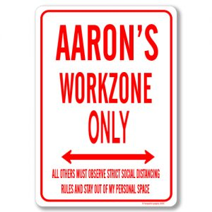 Aarons Desk Sign