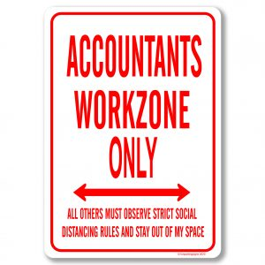 Accountants Desk Sign