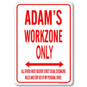 Adams Desk Sign