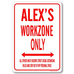 Alexs Desk Sign