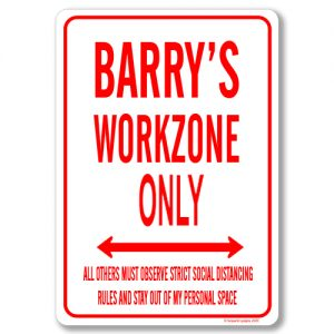 Barrys Desk Sign