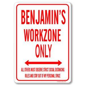 Benjamins Desk Sign