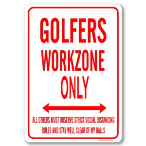 Golfer Desk Sign