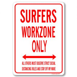 Surfer Desk Sign