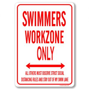 Swimmers Desk Sign